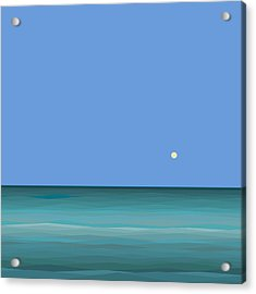 Acrylic Print featuring the digital art Calm Sea - Square by Val Arie