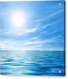Calm Seascape Acrylic Print