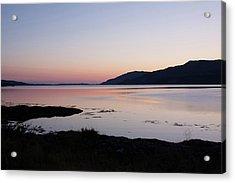 Calm Sunset Loch Scridain Acrylic Print