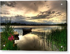 Calm Waters On Lough Erne Acrylic Print by Kim Shatwell-Irishphotographer