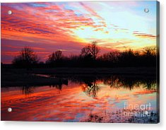 Acrylic Print featuring the photograph Calming Sunset by Larry Keahey