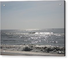 Calming Waves Acrylic Print by Jennifer  Sweet