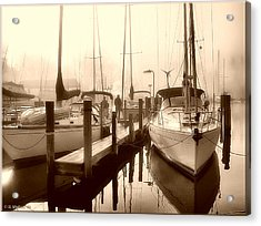 Acrylic Print featuring the photograph Calmly Docked by Brian Wallace