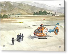 Calstar Salinas Airpot Acrylic Print by Margaret Anderson
