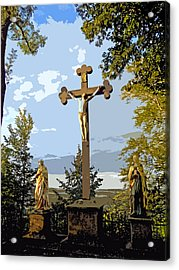 Acrylic Print featuring the photograph Calvary Group - Parkstein by Juergen Weiss