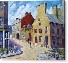 Calvet House Old Montreal Acrylic Print by Richard T Pranke