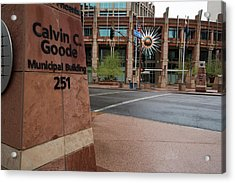 Acrylic Print featuring the photograph Calvin Goode Municipal Building Phoenix Az by Dave Dilli