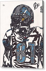 Calvin Johnson Jr 3 Acrylic Print by Jeremiah Colley