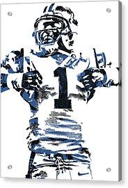 Cam Newton Carolina Panthers Pixel Art 6 Acrylic Print