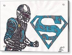 Cam Newton Superman Edition Acrylic Print