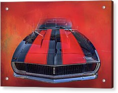 Camaro - Forged By Fire Acrylic Print by Theresa Tahara