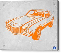 Camaro Acrylic Print by Naxart Studio