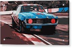 Camaro Z28 Transam 1969 Acrylic Print by Andrea Mazzocchetti