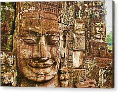 Cambodia Faces  Acrylic Print by Dennis Cox WorldViews