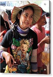 Cambodia Sales Girl Acrylic Print