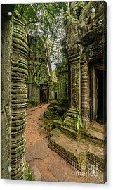 Cambodia Ta Phrom Ruins Acrylic Print