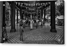 Cambodian Apsara Dancers Acrylic Print by David Longstreath