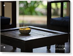Cambodian Sojourn Flowers Acrylic Print by Mike Reid