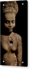 Cambodian Statue  Iv Acrylic Print by Louise Fahy