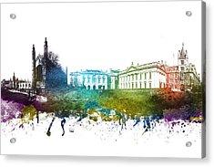 Cambridge Cityscape 01 Acrylic Print by Aged Pixel