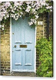Cambridge Doorway 54 Painterly Effect Acrylic Print