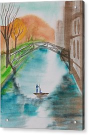 Cambridge River View Acrylic Print by Leo Boucher
