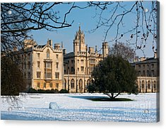 Cambridge Snowscape Acrylic Print