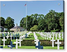 Cambridge England American Cemetery Acrylic Print by Alan Toepfer