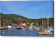 Camden Harbor Acrylic Print by Corinne Rhode