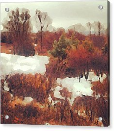 Came An Early Snow Acrylic Print