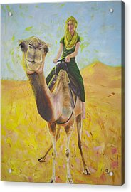 Camel At Work Acrylic Print