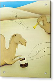 Camel Band Acrylic Print by Lael Borduin