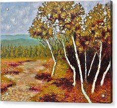 Camel Top Birches Acrylic Print