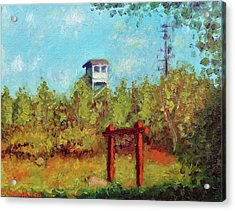 Camel Top Fire Tower Acrylic Print