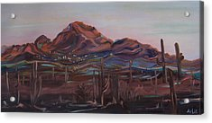 Camelback Mountain Acrylic Print by Julie Todd-Cundiff