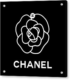 Camellia Chanel Acrylic Print by Tres Chic