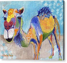 Acrylic Print featuring the painting Camelorful by Jamie Frier