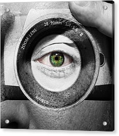 Camera Face Acrylic Print by Semmick Photo