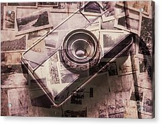 Camera Of A Vintage Double Exposure Acrylic Print