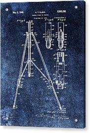 Camera Tripod Patent Acrylic Print by Dan Sproul