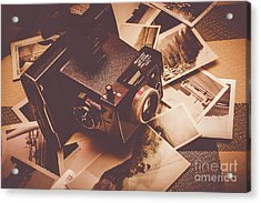 Cameras And Scattered Photos Acrylic Print