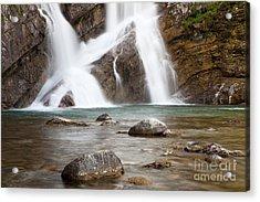 Cameron Falls In Waterton Lakes National Park Acrylic Print