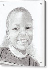 Acrylic Print featuring the drawing Cameron by Quwatha Valentine