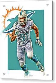 Cameron Wake Miami Dolphins Oil Art Acrylic Print