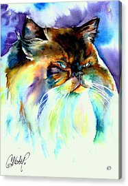 Acrylic Print featuring the painting Camille by Christy Freeman