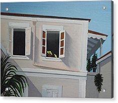 Camille Pissaro Courtyard Acrylic Print by Robert Rohrich