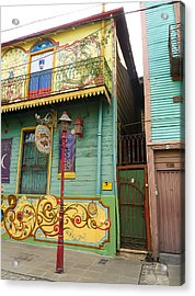 Acrylic Print featuring the photograph Caminito La Boca by Silvia Bruno