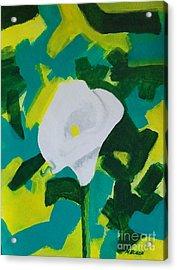 Camo Calla Lilly Acrylic Print by Marsha Heiken