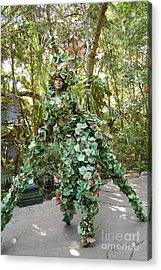 Camouflaged Tree Street Performer Animal Kingdom Walt Disney World Prints Acrylic Print