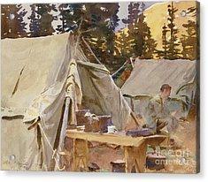 Camp At Lake Ohara, 1916 Acrylic Print